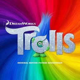Обложка к диску с музыкой из мультфильма «Тролли»