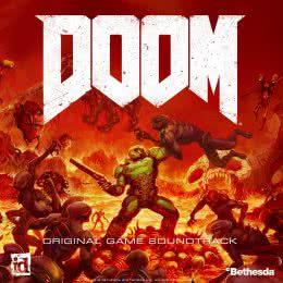 Обложка к диску с музыкой из игры «Doom»