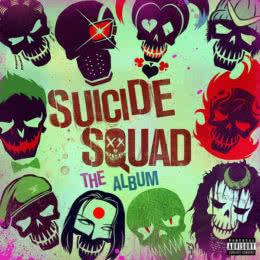 Обложка к диску с музыкой из фильма «Отряд самоубийц»