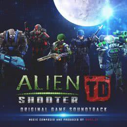 Обложка к диску с музыкой из игры «Alien Shooter TD»