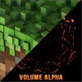 Маленькая обложка диска с музыкой из игры «Minecraft: Volume Alpha»