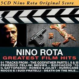Обложка к диску с музыкой из сборника «Нино Рота - величайшие кинохиты (5CD)»