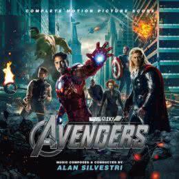 Обложка к диску с музыкой из фильма «Мстители»