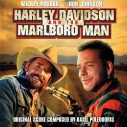 Обложка к диску с музыкой из фильма «Харлей Дэвидсон и ковбой Мальборо»