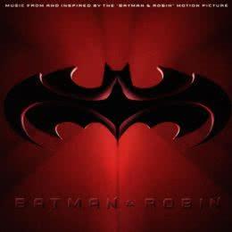 Обложка к диску с музыкой из фильма «Бэтмен и Робин»