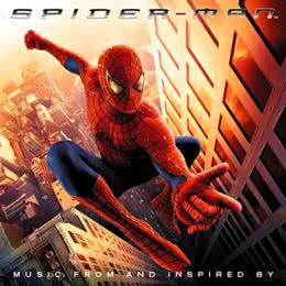 Обложка к диску с музыкой из фильма «Человек-паук»