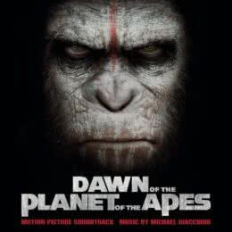 Обложка к диску с музыкой из фильма «Планета обезьян: Революция»