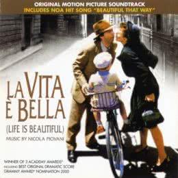 Обложка к диску с музыкой из фильма «Жизнь прекрасна»