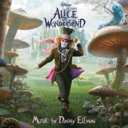 Обложка к диску с музыкой из фильма «Алиса в стране чудес»