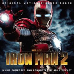 Обложка к диску с музыкой из фильма «Железный человек 2»