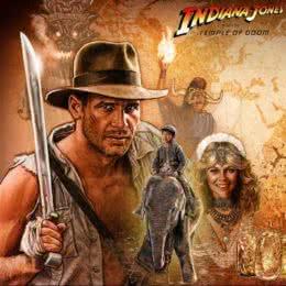 Обложка к диску с музыкой из фильма «Индиана Джонс и храм судьбы»