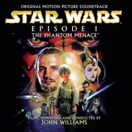 Обложка к диску с музыкой из фильма «Звездные войны. Эпизод I: Скрытая угроза»