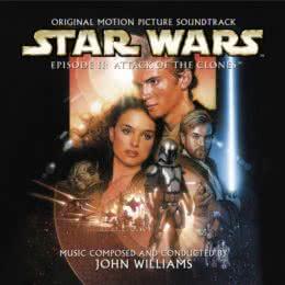 Обложка к диску с музыкой из фильма «Звездные войны. Эпизод II: Атака клонов»