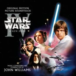Обложка к диску с музыкой из фильма «Звёздные войны. Эпизод IV: Новая надежда»