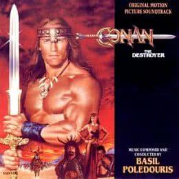 Обложка к диску с музыкой из фильма «Конан-разрушитель»