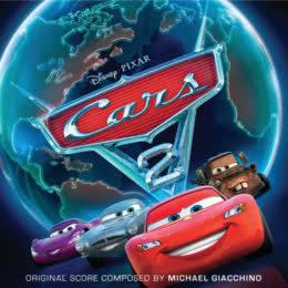 Обложка к диску с музыкой из мультфильма «Тачки 2»