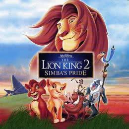 Обложка к диску с музыкой из мультфильма «Король Лев 2: Гордость Симбы»