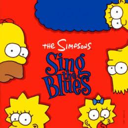 Обложка к диску с музыкой из мультфильма «The Simpsons: Sing the Blues»
