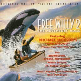 Обложка к диску с музыкой из фильма «Освободите Вилли 2: Новое приключение»