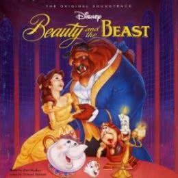 Обложка к диску с музыкой из мультфильма «Красавица и чудовище»