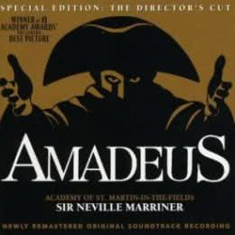 Обложка к диску с музыкой из фильма «Амадей»