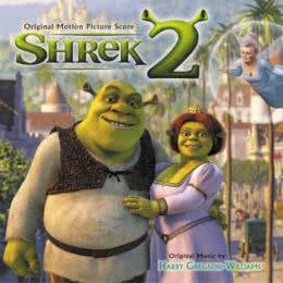 Обложка к диску с музыкой из мультфильма «Шрек 2»