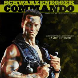 Обложка к диску с музыкой из фильма «Коммандо»