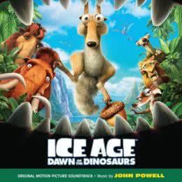 Обложка к диску с музыкой из мультфильма «Ледниковый период 3: Эра динозавров»