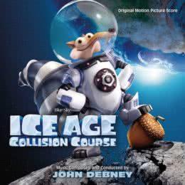 Обложка к диску с музыкой из мультфильма «Ледниковый период: Столкновение неизбежно»