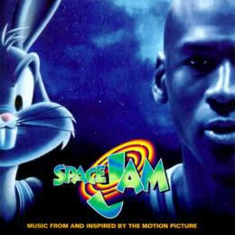 Обложка к диску с музыкой из фильма «Космический джем»