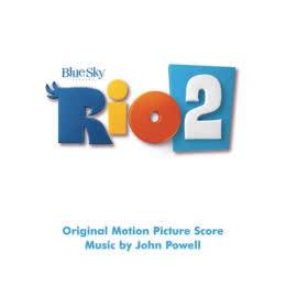 Обложка к диску с музыкой из мультфильма «Рио 2»