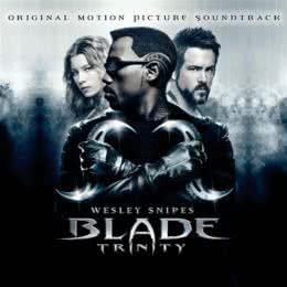 Обложка к диску с музыкой из фильма «Блэйд Троица»