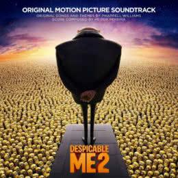 Обложка к диску с музыкой из мультфильма «Гадкий я 2»