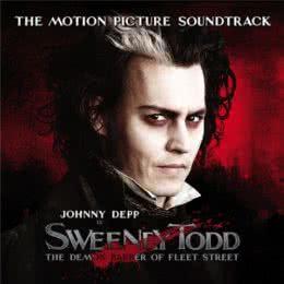 Обложка к диску с музыкой из фильма «Суини Тодд, Демон-парикмахер с Флит-стрит»