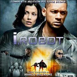 Обложка к диску с музыкой из фильма «Я, робот»
