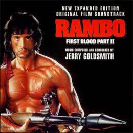 Обложка к диску с музыкой из фильма «Рэмбо: Первая кровь 2»
