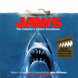 Обложка к диску с музыкой из фильма «Челюсти»