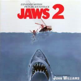 Обложка к диску с музыкой из фильма «Челюсти 2»