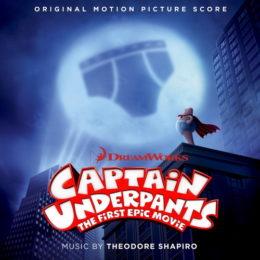 Обложка к диску с музыкой из мультфильма «Капитан Подштанник: Первый эпический фильм»