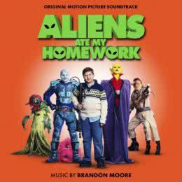 Обложка к диску с музыкой из фильма «Инопланетяне съели мою домашнюю работу»