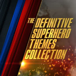 Обложка к диску с музыкой из сборника «The Definitive Superhero Themes Collection»