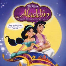 Обложка к диску с музыкой из мультфильма «Аладдин»
