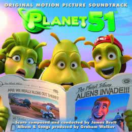 Обложка к диску с музыкой из мультфильма «Планета 51»
