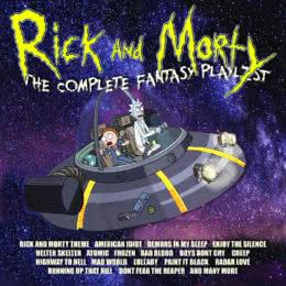 Обложка к диску с музыкой из мультфильма «Rick And Morty - The Complete Fantasy Playlist»