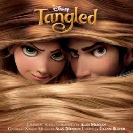 Обложка к диску с музыкой из мультфильма «Рапунцель: Запутанная история»