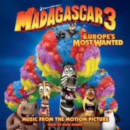 Обложка к диску с музыкой из мультфильма «Мадагаскар 3»