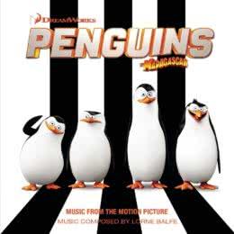Обложка к диску с музыкой из мультфильма «Пингвины Мадагаскара»