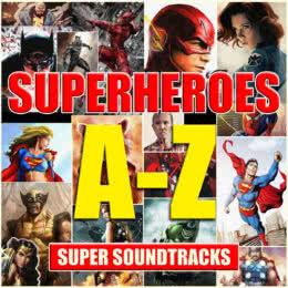 Обложка к диску с музыкой из сборника «Лучшее из супергеройского кино»