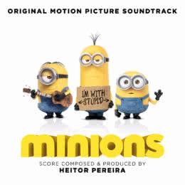 Обложка к диску с музыкой из мультфильма «Миньоны»