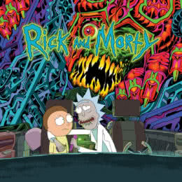 Обложка к диску с музыкой из мультфильма «Рик и Морти»